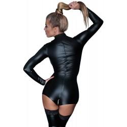 Body im Power-Wetlook mit Zip durch den Schritt