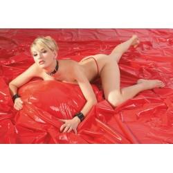 Laken aus Lack, 200x230 cm, rot