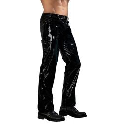Hose aus Lack, mit unterlegtem Reißverschluss