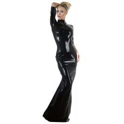Kleid aus Latex mit Zip