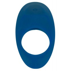 Vibro-Penisring mit Klitorisstimulation, wiederaufladbar, blau