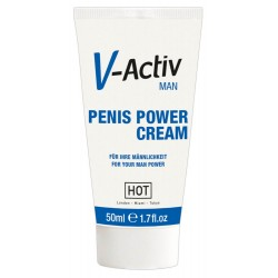 »V-Activ Penis Power Cream«, mit ätherischen Extrakten, 50 ml