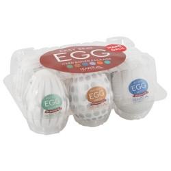 Mastrubator-Eier »Variety 2« mit Reizstrukturen, 6er