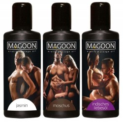3er-Set Massageöl »Magoon«, diverse Aromen, 3 x 50 ml