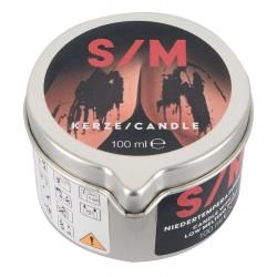 S/M Kerze im Tiegel, schwarz, Niedertemperaturkerze, 100 g