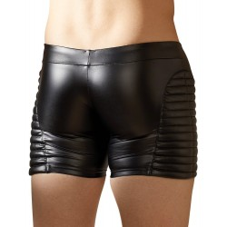 Pants im Biker-Style mit Matt-Look und Reißverschluss
