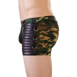 Pants mit Camouflage-Print und Mattlook-Details, seitlich Ringe
