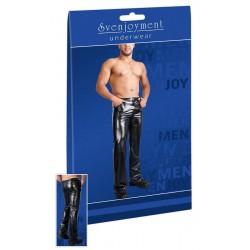 Hose aus Lederimitat, im 5-Pocket-Style mit geradem Bein
