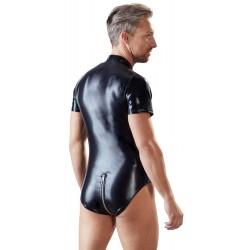 Body im Wetlook mit 2-Wege-Reißverschluss