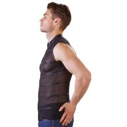 Shirt aus Powernet mit Reißverschluss