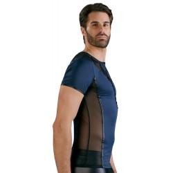 Shirt aus elastischer Mikrofaser und Powernet