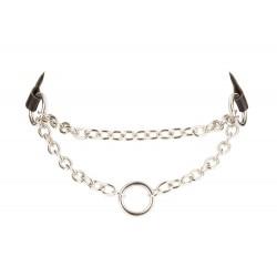 Halskette mit Zierring, 31 cm Gesamtlänge