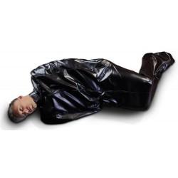 Schlafsack aus Lederimitat, ungefüttert mit verschlossenen Armöffnungen